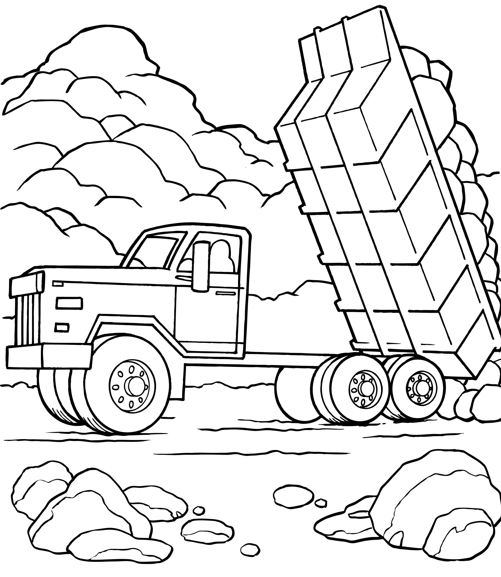 dump truck coloring pages printable dump truck coloring pages to