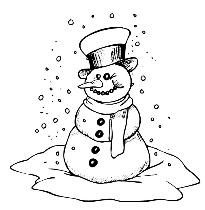 the snowman coloring pages printable snowman coloring pages snowman