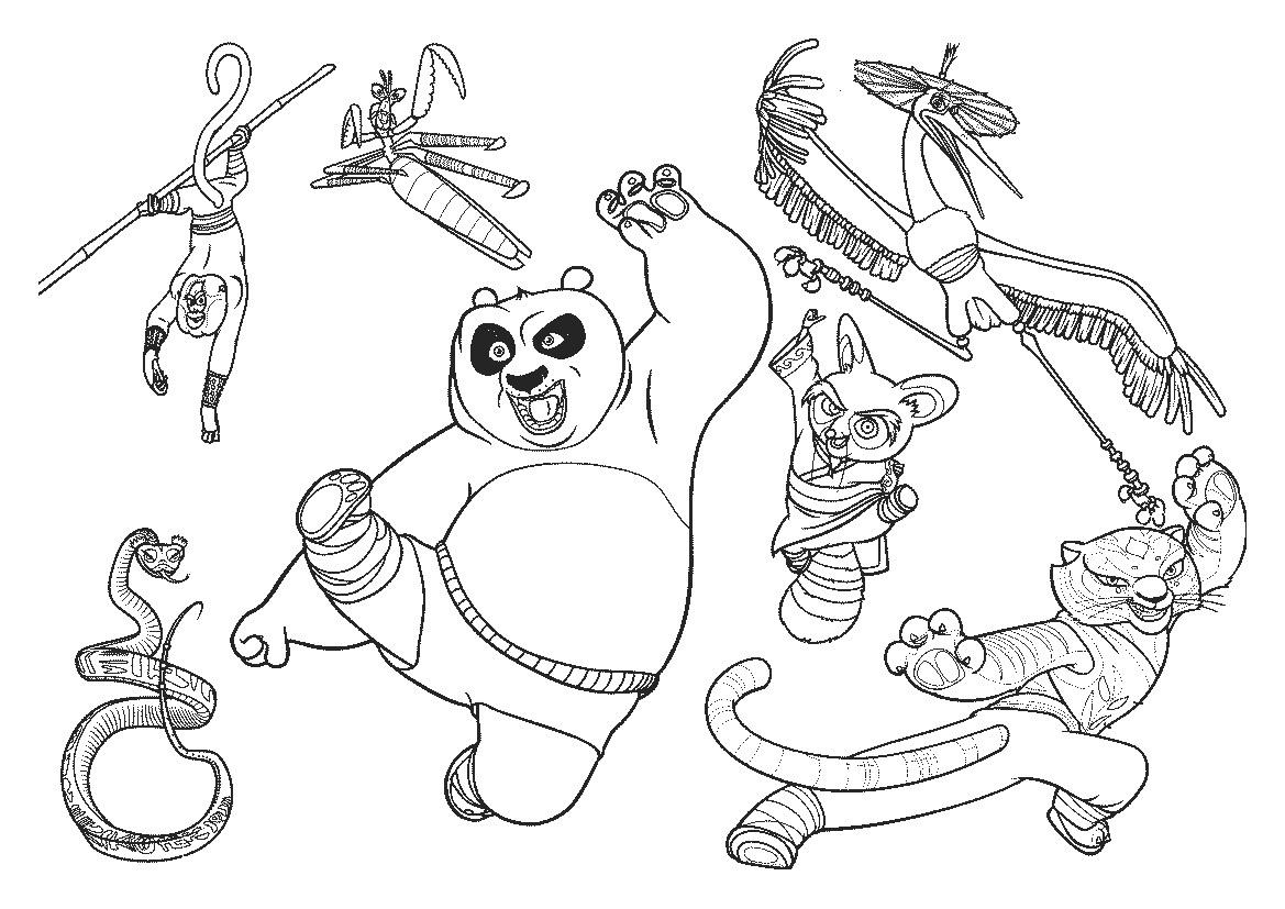 Printable Kung Fu Panda Coloring Pages Coloring Me