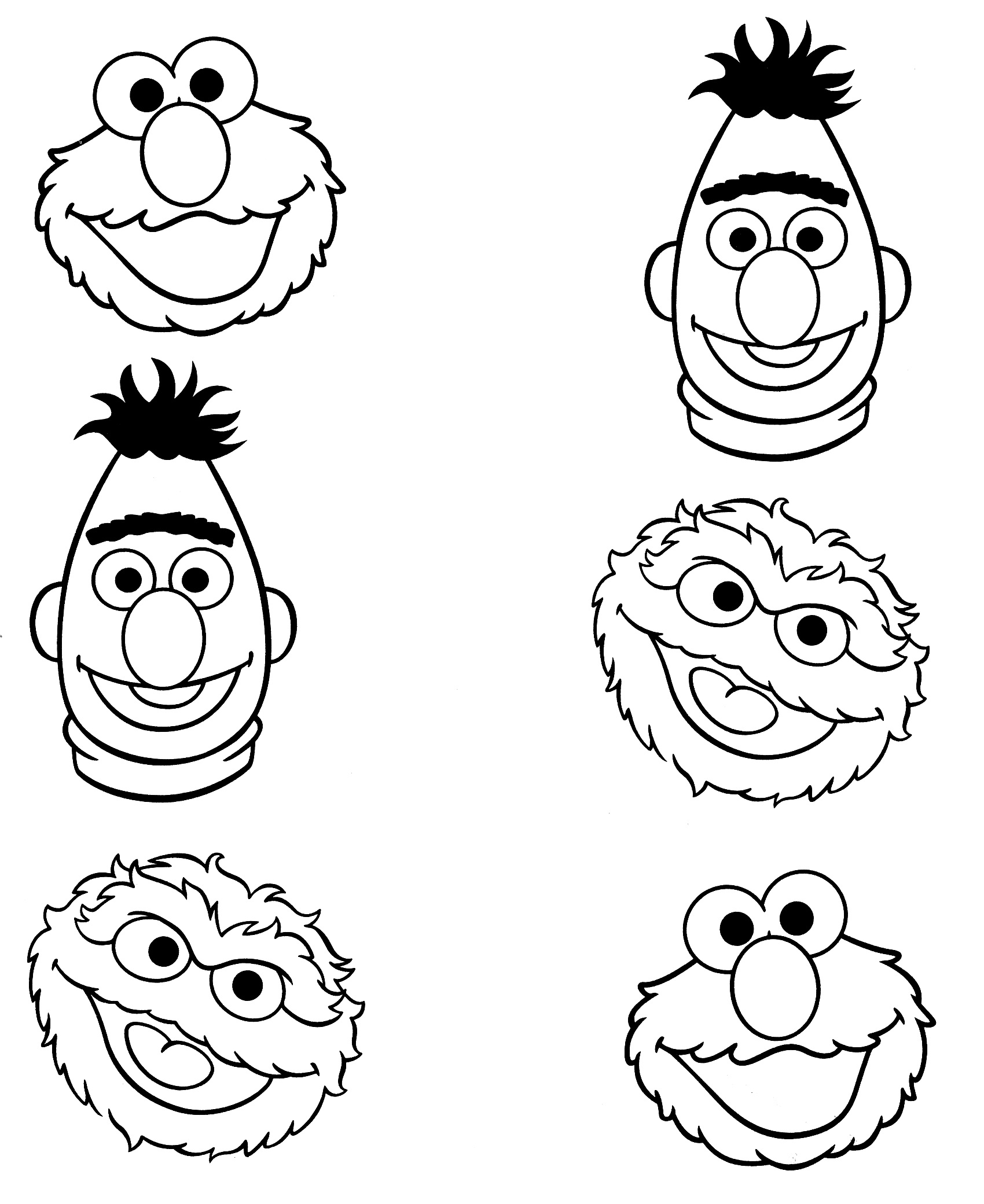 graphic relating to Printable Pictures of Sesame Street Characters identify Sesame Highway Coloring Web pages Grover. telly monster and