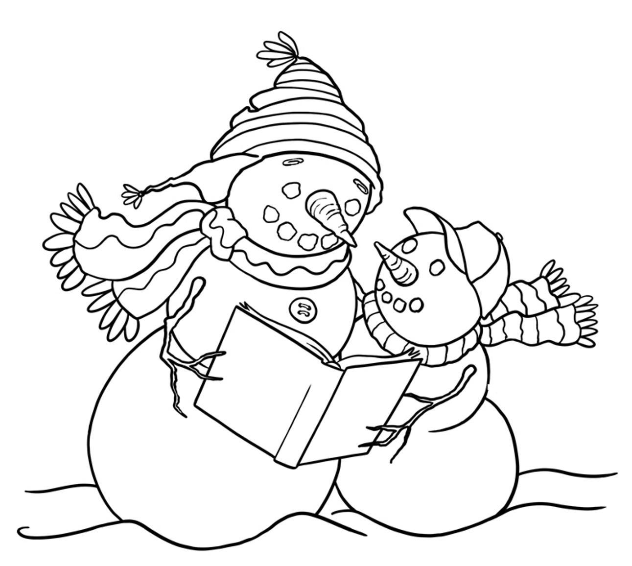 snowman coloring sheets