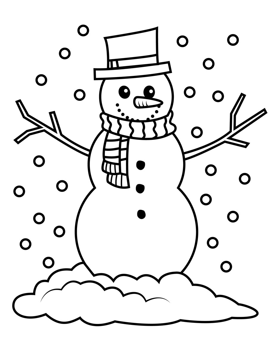 coloring pages snowman christmas coloring pages snowman coloring page