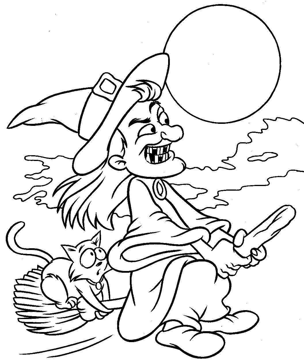 Printable Witch Coloring Pages Coloringme Com
