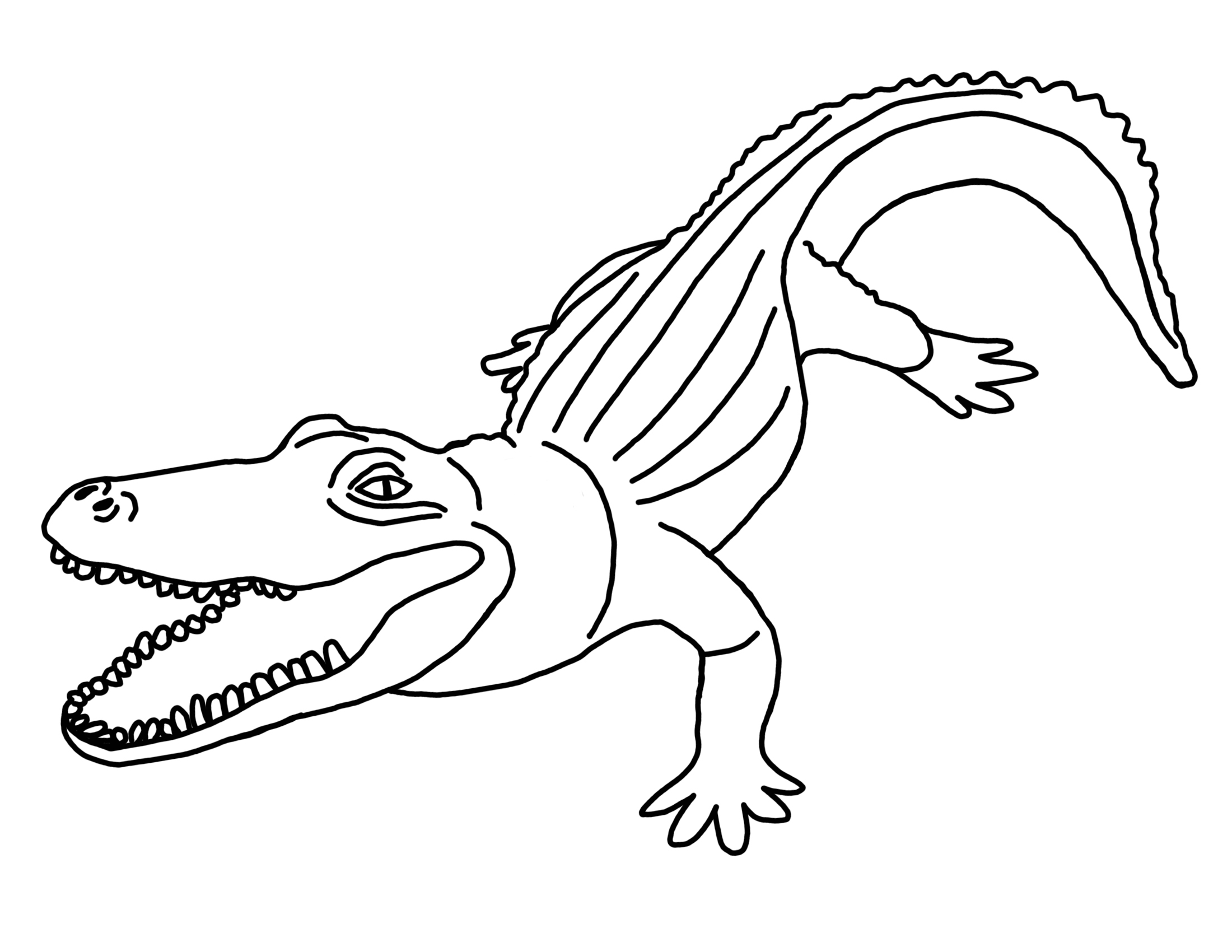 Letter A Alligator Coloring Pages. alligator coloring sheets ...