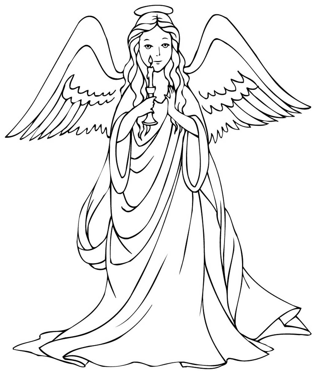 printable angel pages me