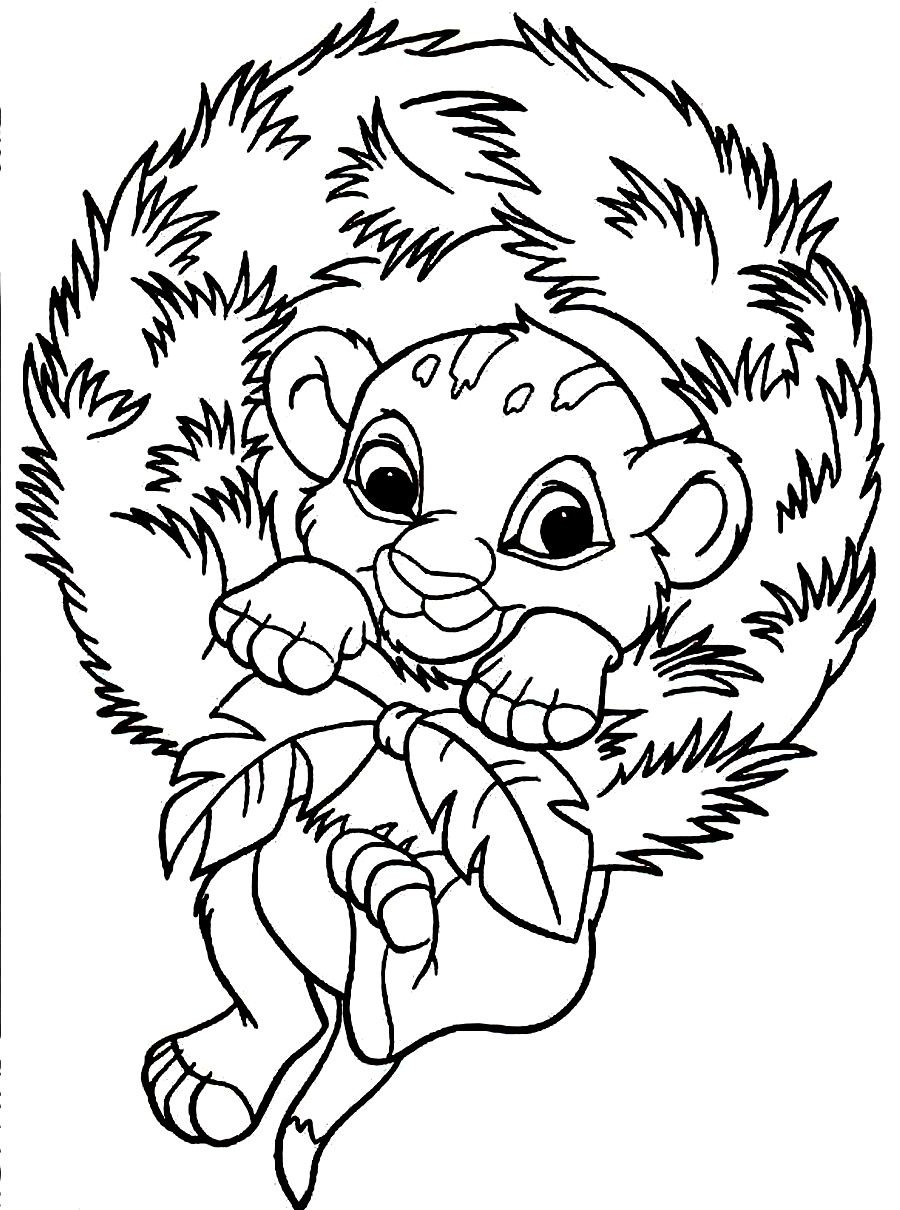 baby lions coloring pages baby simba coloring pages