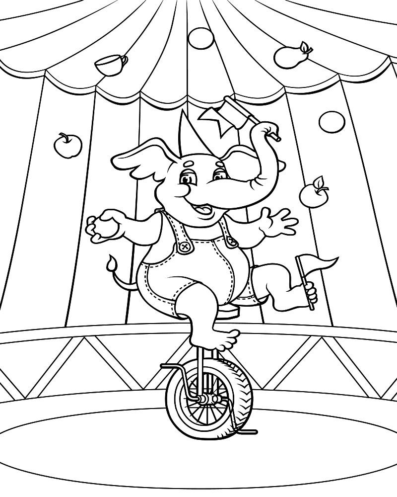 Coloriage Hello Kitty Cirque.Circus Elephant Coloring Page Circus Tent Coloring Page Circus Tent