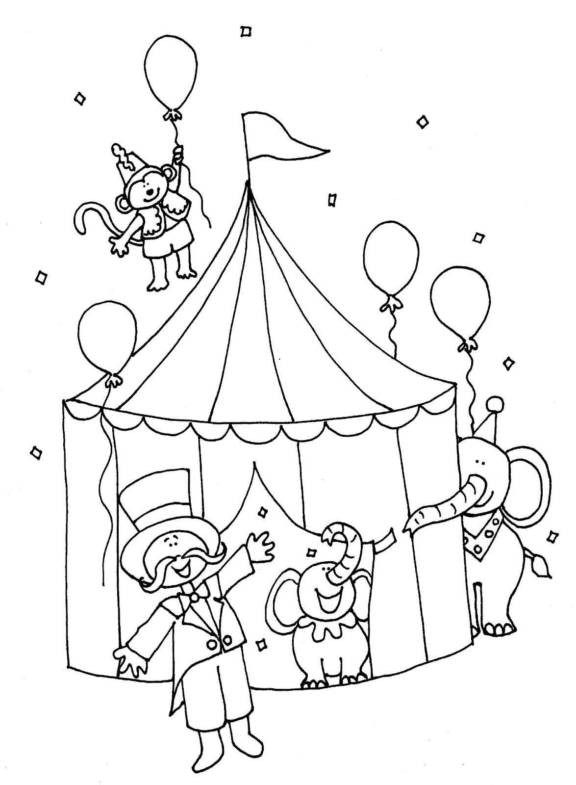 coloring pages circus monkey coloring pages circus printable coloring