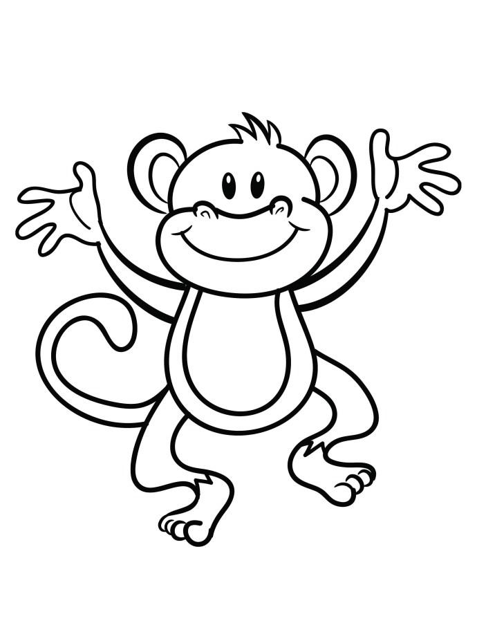Monkey Coloring Sheets
