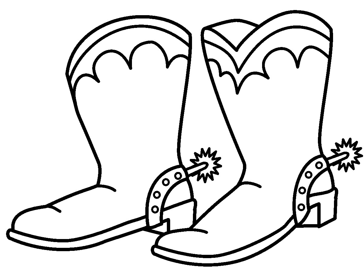 cowboy boot coloring page aftytk