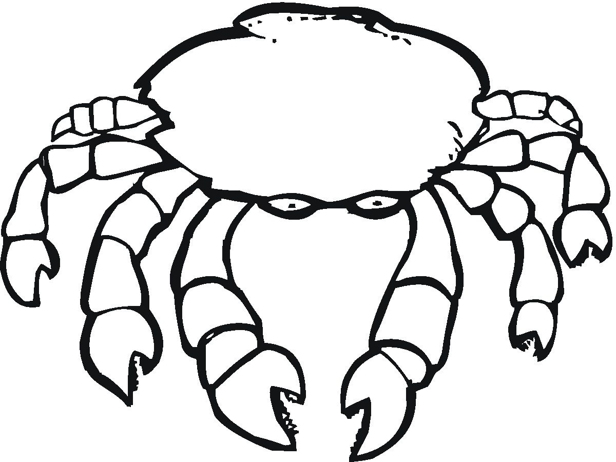 Crab Printable Coloring Pages