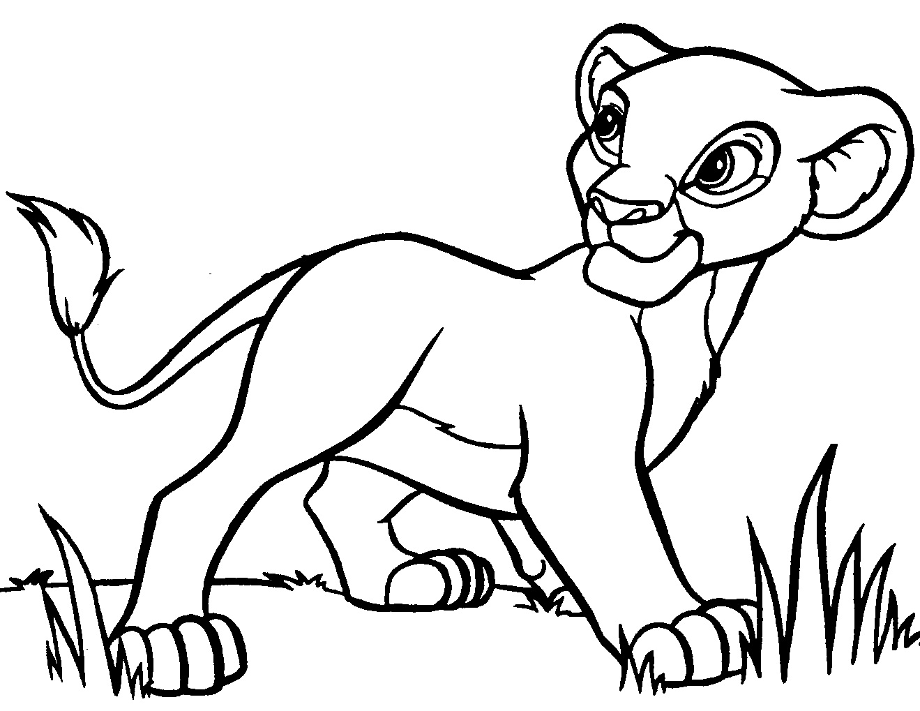 cartoon simba coloring pages cooloring com