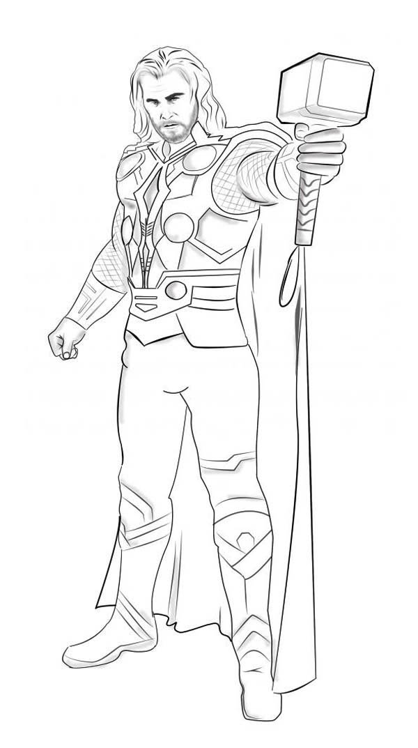 printable thor coloring pages coloring me