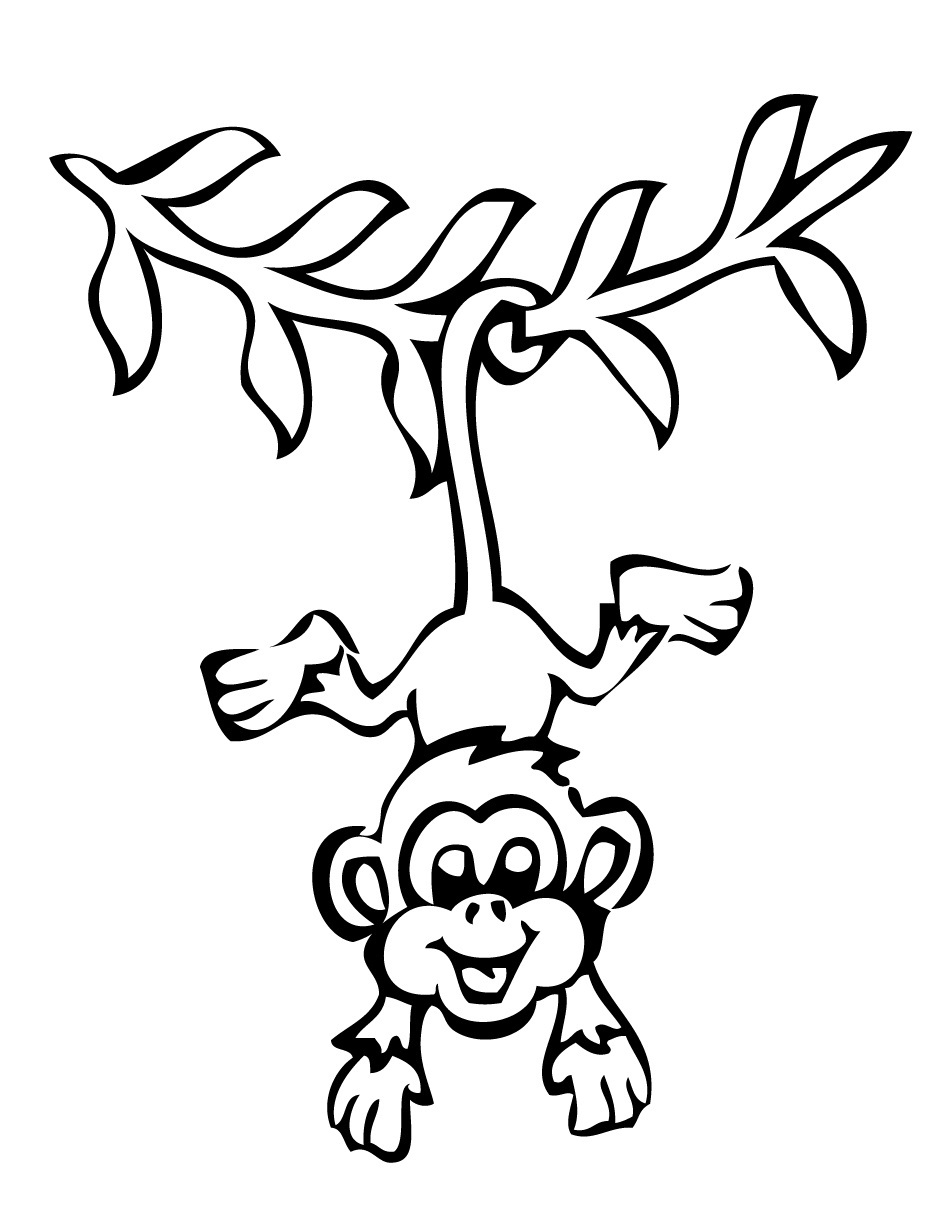 monkeys free monkey coloring pages free printable monkey coloring