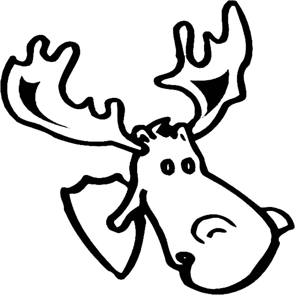 printable moose coloring pages coloring me