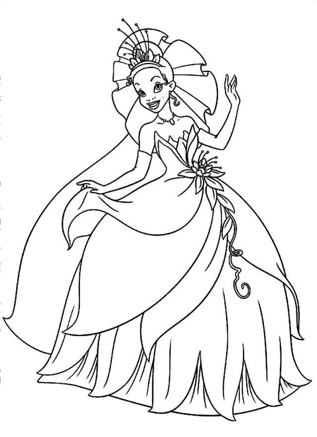 Printable Princess Tiana Coloring Pages  Coloring and Malvorlagan