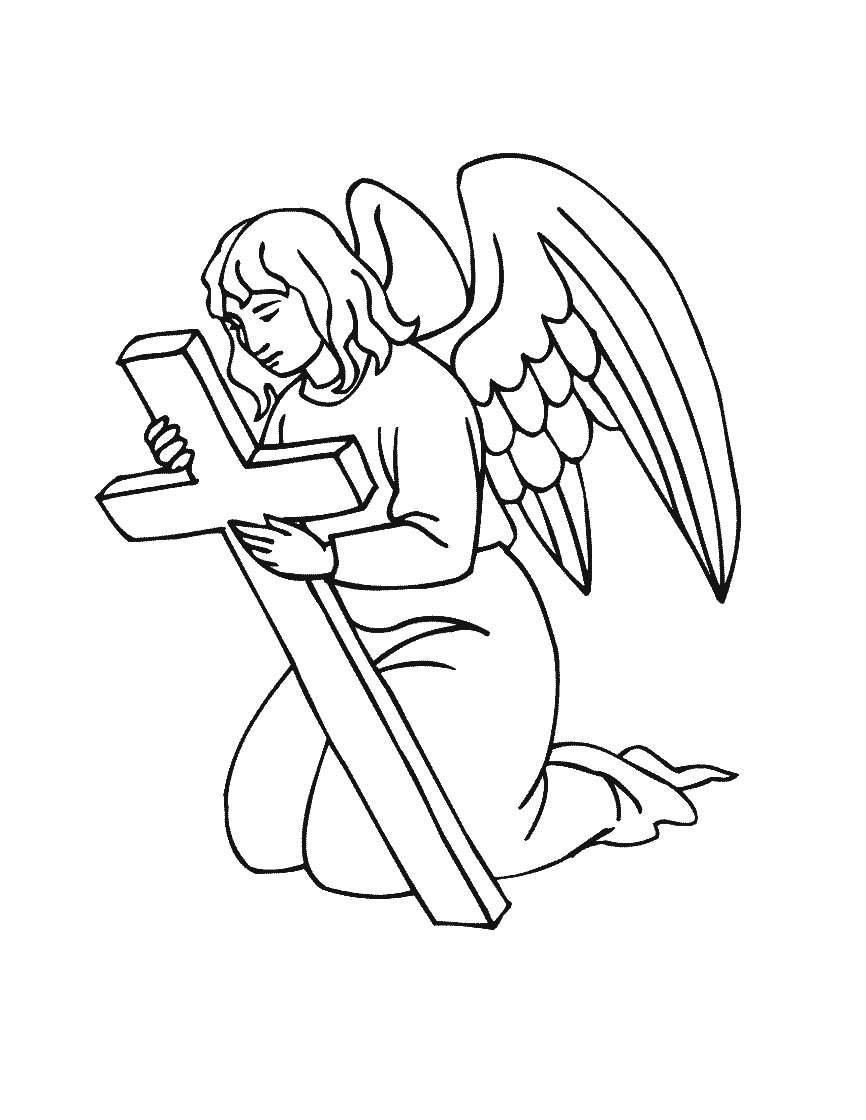 This is a graphic of Printable Angels for coloring