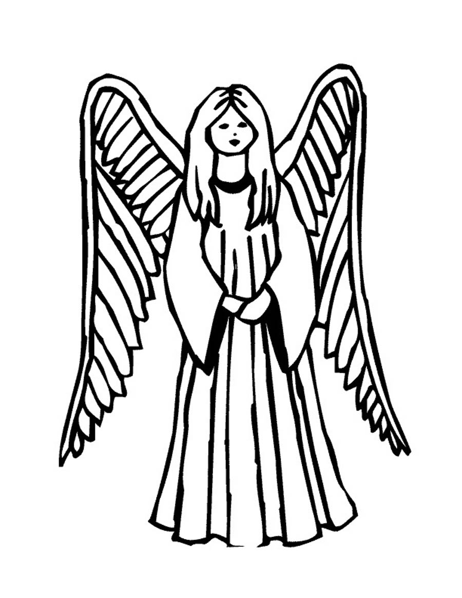 printable coloring pages of angels coloring pages