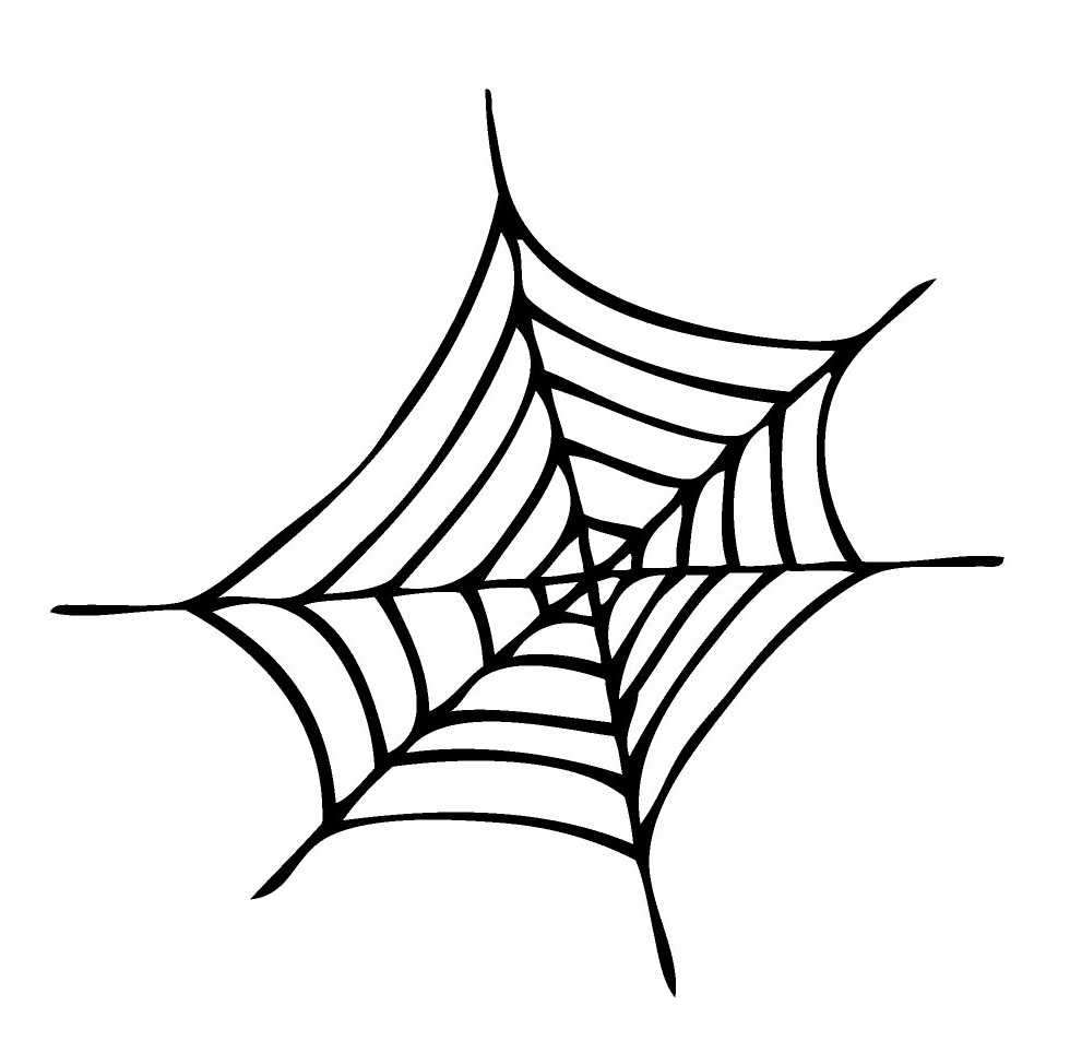 spider web coloring page spider web coloring pages for kids