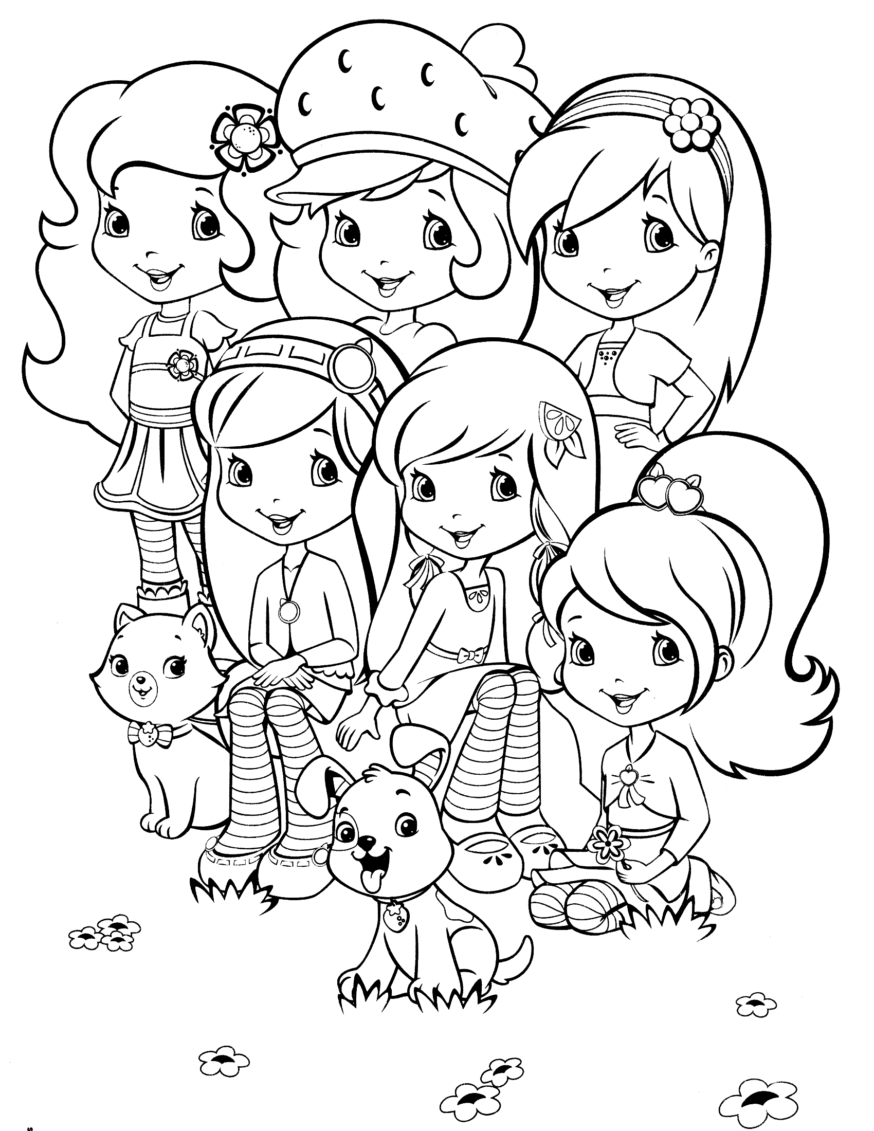 Free Printable Coloring Pages Of Strawberry Shortcake And Friends