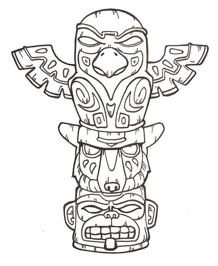 printable totem pole coloring pages coloring me