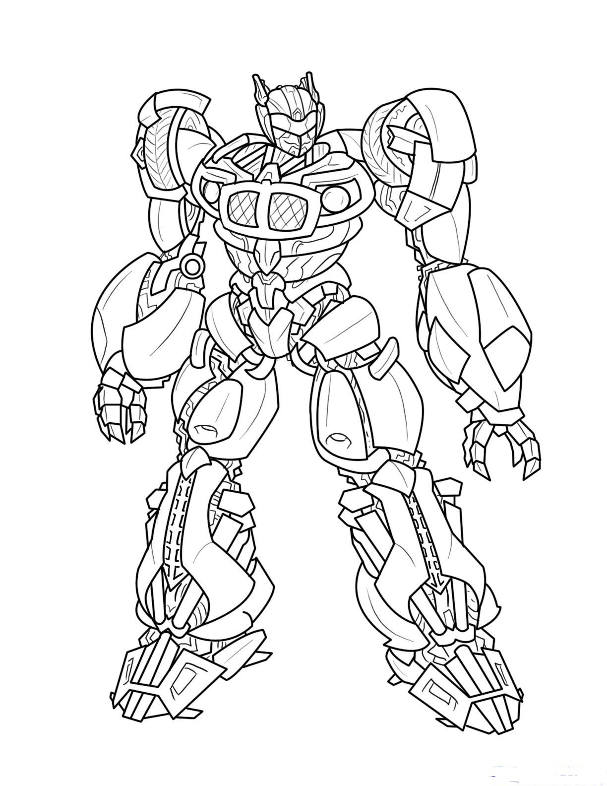 transformer bumble bee colouring pages page 2