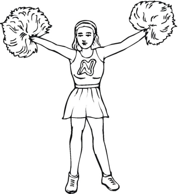 cheer coloring pages # 8