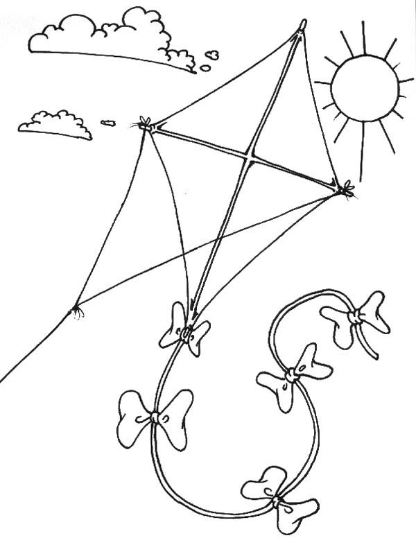 kite flying coloring pages printable kite coloring pages for kids