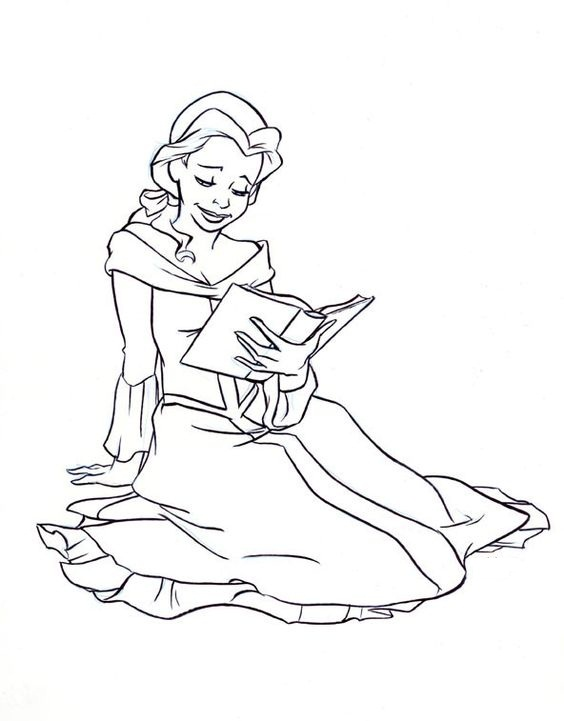 printable belle coloring pages coloring me