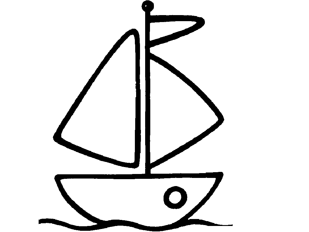Easy Boat Coloring Coloring Pages