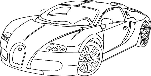 Bugatti Veyron Coloring Pages Printable Bugatti Coloring Pages