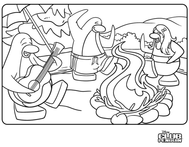 Club Penguin Ninja Coloring Pages   Coloring Page for kids