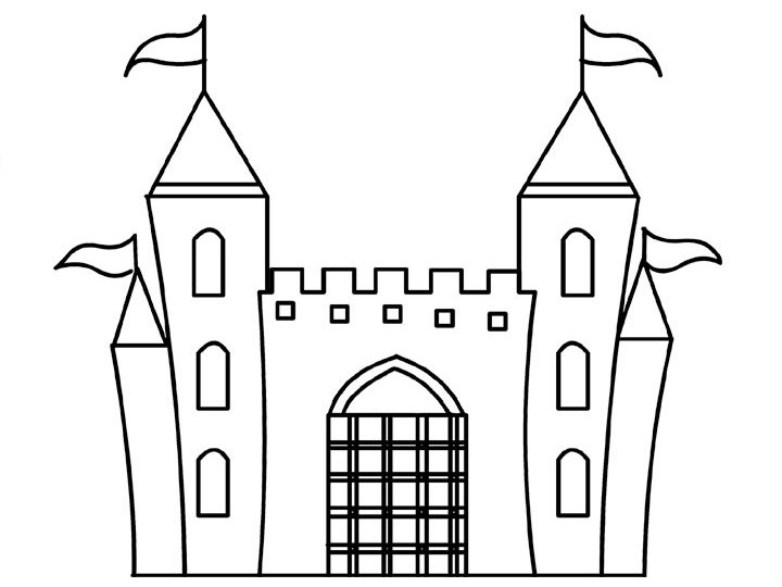 printable castle coloring pages coloring me