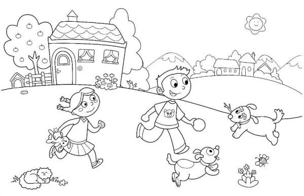 Kindergarten Coloring Sheet. printable kindergarten coloring pages ...