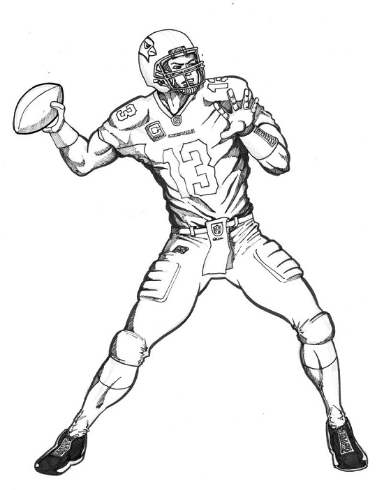 football player coloring page # 9