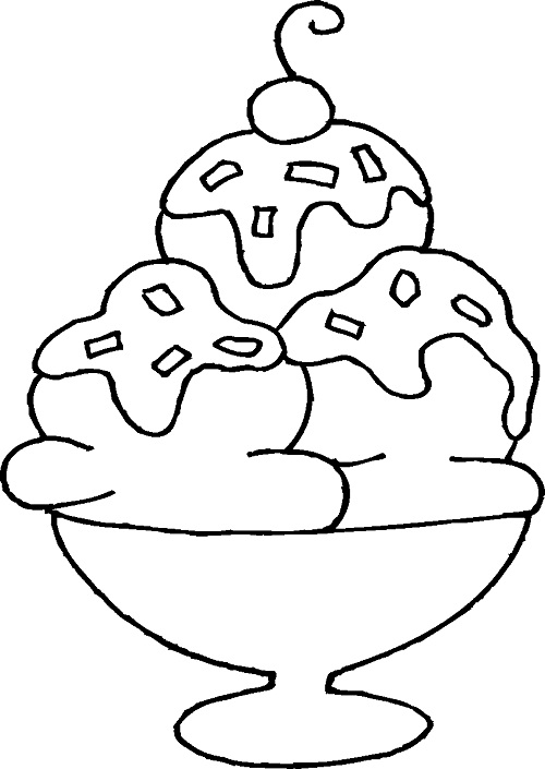 ice cream sundae coloring pages preschool ice cream coloring pages