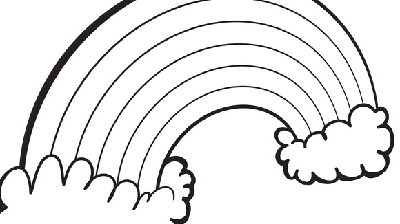 printable rainbow coloring pages coloring me