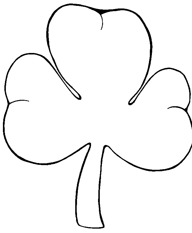 printable shamrock coloring pages coloring me