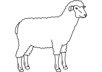 printable sheep coloring pages coloring me