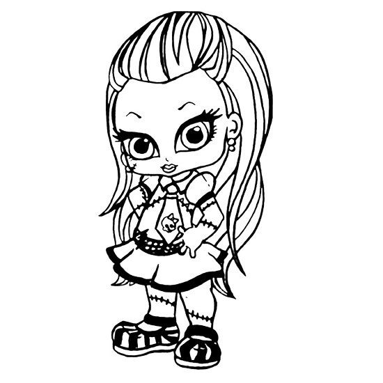 monster high baby coloring pages # 4