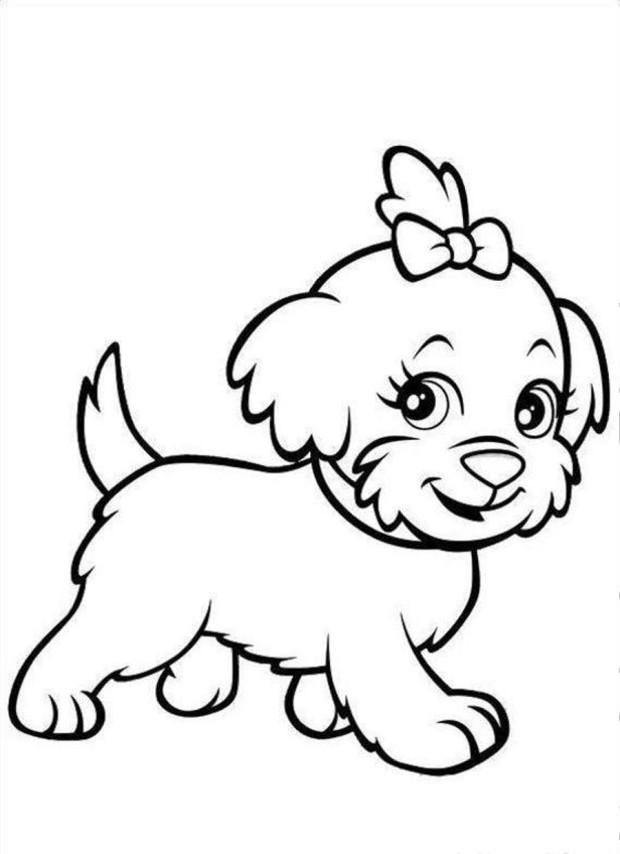 coloring pages of puppies aneatk