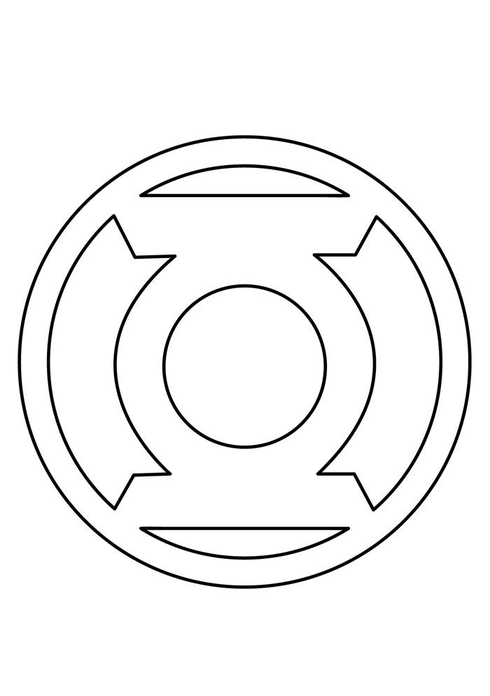 Symbol Of Green Lantern Coloring Page Free Printable