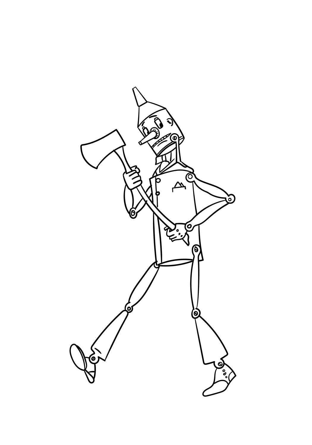 The Tin Man Coloring Page