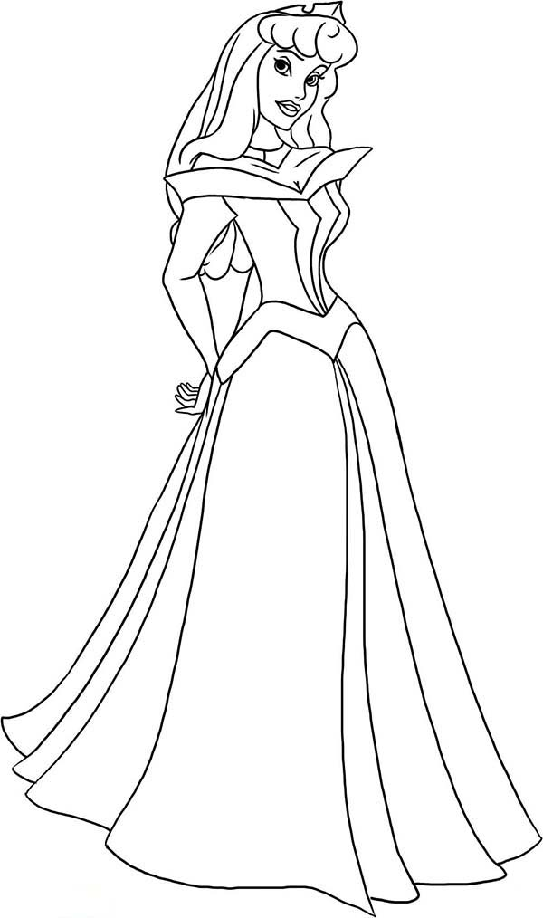 Princess Aurora Coloring Page - Free Printable Coloring ... | free printable princess aurora coloring pages
