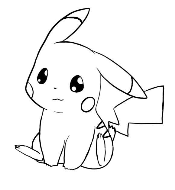 cute pikachu coloring page  free printable coloring pages