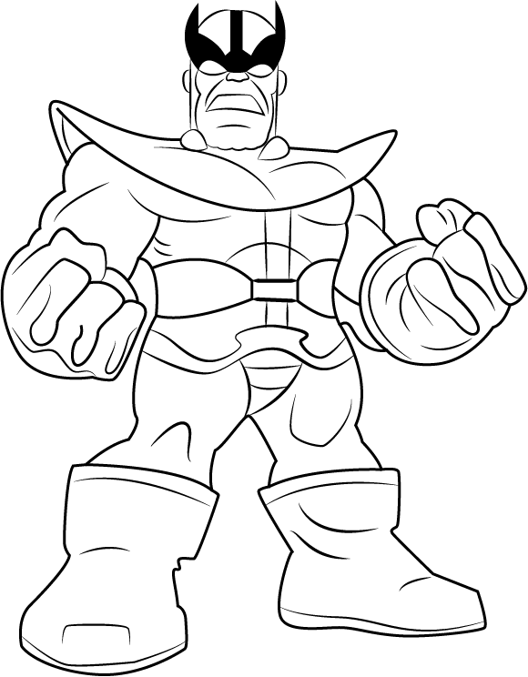 Angry Thanos Coloring Page Free Printable Coloring Pages