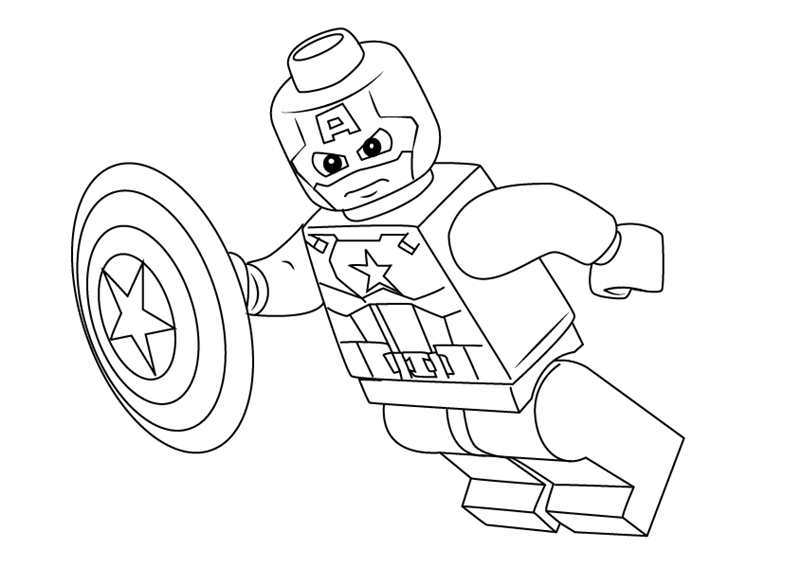 List of Coloring Lego Captain America Pict - Best Pictures
