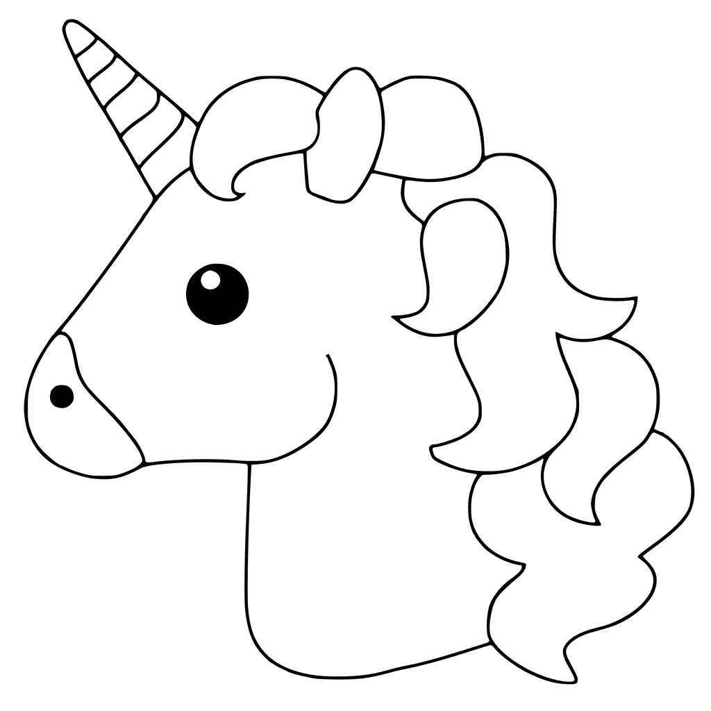 Simple Unicorn S Head Coloring Page