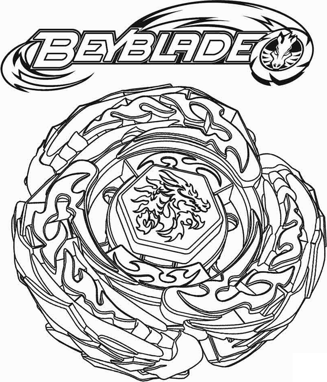 Drago Beyblade Coloring Pages For Kids Printable Free