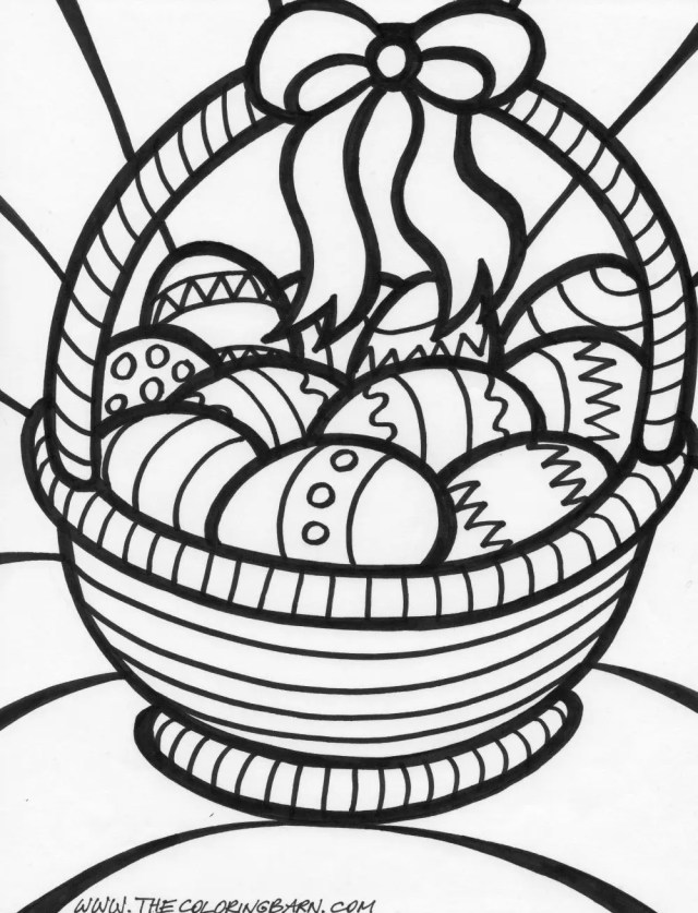 Easter Basket Coloring Page coloring page & book for kids.
